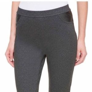 DKNY Jeans Mid Rise Stretch Gray Pants L